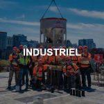 Coffrage de béton industriel